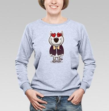 Влюблённый буль - Купить детские свитшоты с собаками в Москве, цена детских свитшотов с собаками  с прикольными принтами - магазин дизайнерской одежды MaryJane