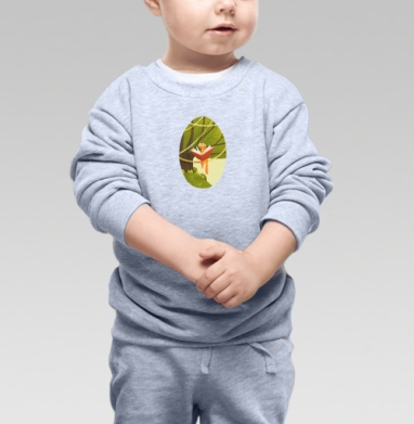 Кот на дереве - Купить детские свитшоты с природой в Москве, цена детских свитшотов с природой  с прикольными принтами - магазин дизайнерской одежды MaryJane