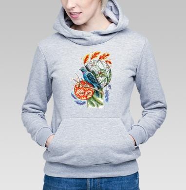 Бирюзовая котинга - Купить детские толстовки с птицами в Москве, цена детских толстовок с птицами  с прикольными принтами - магазин дизайнерской одежды MaryJane