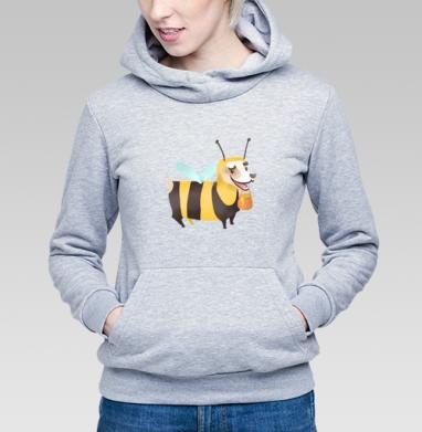 Пчелопёс, Толстовка Женская серый меланж 340гр, теплая
