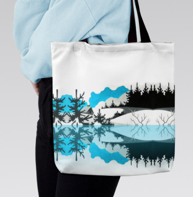 Сумка с полной запечаткой - Мороз в лесу