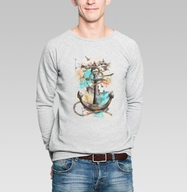 Морской волк - Купить мужские свитшоты с птицами в Москве, цена мужских свитшотов с птицами  с прикольными принтами - магазин дизайнерской одежды MaryJane
