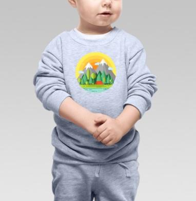 Горы - Купить детские свитшоты с природой в Москве, цена детских свитшотов с природой  с прикольными принтами - магазин дизайнерской одежды MaryJane