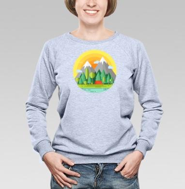 Горы - Купить женские свитшоты с природой в Москве, цена женских свитшотов с природой  с прикольными принтами - магазин дизайнерской одежды MaryJane