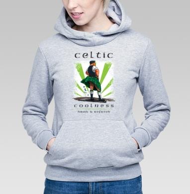 Кельтская свежесть, Толстовка Женская серый меланж 340гр, теплая