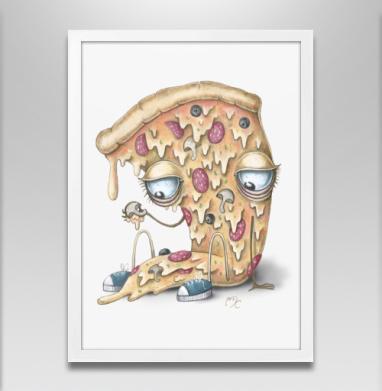 Кусочек пиццы - Постеры, сладости, Популярные