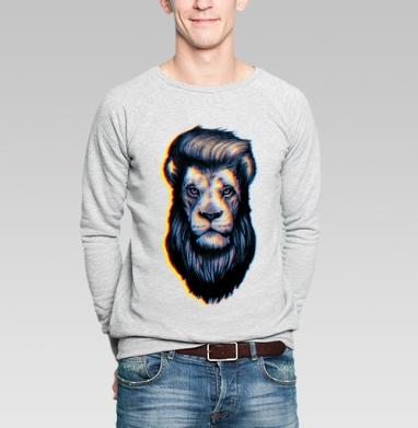Царская стрижка - Свитшот мужской серый-меланж  320гр, стандарт