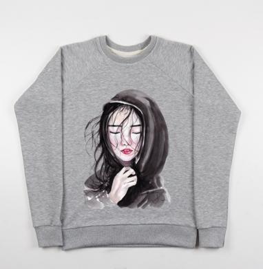 Азиаточка - Купить детские свитшоты с акварелью в Москве, цена детских свитшотов с акварелью  с прикольными принтами - магазин дизайнерской одежды MaryJane