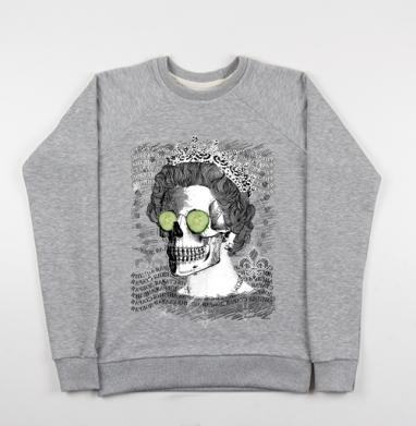 Череп в короне - Купить детские свитшоты с черепом в Москве, цена детских свитшотов с черепом  с прикольными принтами - магазин дизайнерской одежды MaryJane