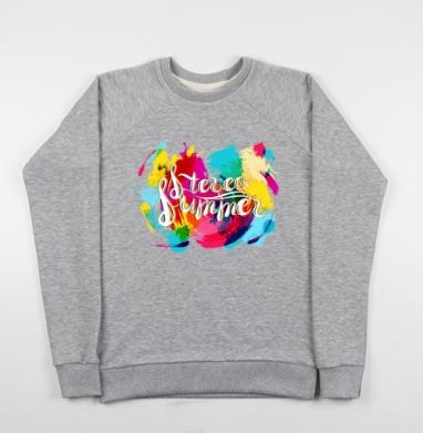 И-Стерео лето - Купить детские свитшоты музыка в Москве, цена детских свитшотов музыкальных  с прикольными принтами - магазин дизайнерской одежды MaryJane