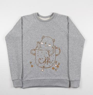 Кофейное  - Купить детские свитшоты милые в Москве, цена детских свитшотов милых  с прикольными принтами - магазин дизайнерской одежды MaryJane
