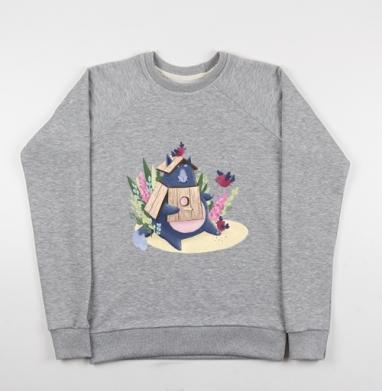 Кот Маркус - Купить детские свитшоты с птицами в Москве, цена детских свитшотов с птицами  с прикольными принтами - магазин дизайнерской одежды MaryJane