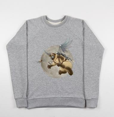 Крылокот - Купить детские свитшоты с кошками в Москве, цена детских свитшотов с кошками  с прикольными принтами - магазин дизайнерской одежды MaryJane