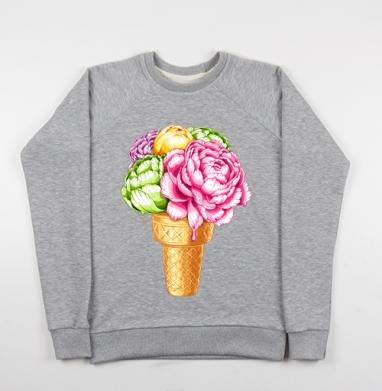Любителям мороженного - Купить детские свитшоты с акварелью в Москве, цена детских свитшотов с акварелью  с прикольными принтами - магазин дизайнерской одежды MaryJane