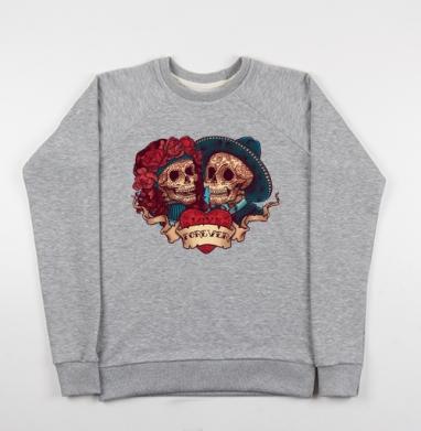 Любовь навсегда - Купить детские свитшоты с черепом в Москве, цена детских свитшотов с черепом  с прикольными принтами - магазин дизайнерской одежды MaryJane