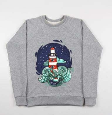 Маяк и большая медведица - Купить детские свитшоты морские  в Москве, цена детских свитшотов морских   с прикольными принтами - магазин дизайнерской одежды MaryJane