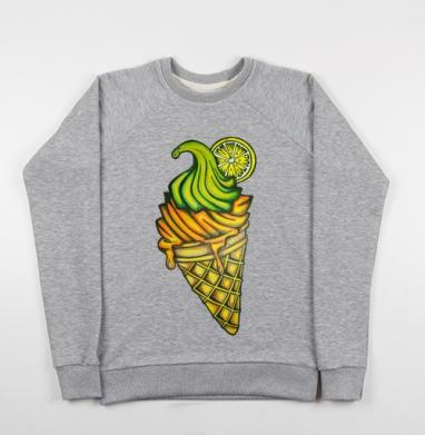 Мороженное - Купить детские свитшоты с акварелью в Москве, цена детских свитшотов с акварелью  с прикольными принтами - магазин дизайнерской одежды MaryJane