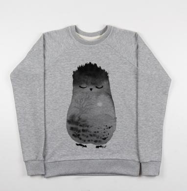 Неизвестное животное, возможно, сова - Купить детские свитшоты с природой в Москве, цена детских свитшотов с природой  с прикольными принтами - магазин дизайнерской одежды MaryJane