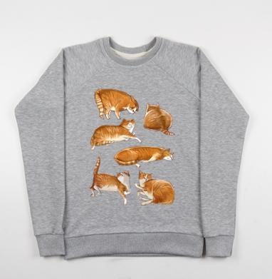 Паттерн с рыжими котами - Купить детские свитшоты с кошками в Москве, цена детских свитшотов с кошками  с прикольными принтами - магазин дизайнерской одежды MaryJane