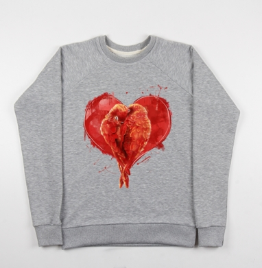 Сердце. - Купить детские свитшоты с птицами в Москве, цена детских свитшотов с птицами  с прикольными принтами - магазин дизайнерской одежды MaryJane