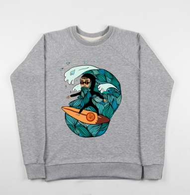 Сёрфер  - Купить мужские свитшоты свобода в Москве, цена мужских свитшотов свобода  с прикольными принтами - магазин дизайнерской одежды MaryJane