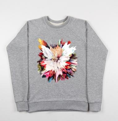 Цветочный взрыв - Купить детские свитшоты с живописью в Москве, цена детских свитшотов с живописью  с прикольными принтами - магазин дизайнерской одежды MaryJane