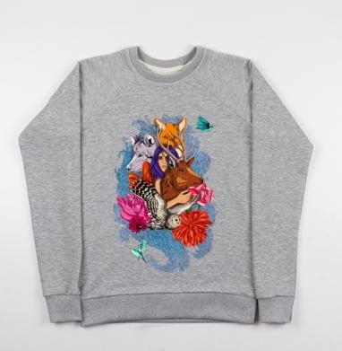 Dear deer - Купить детские свитшоты с волками в Москве, цена детских свитшотов с волками  с прикольными принтами - магазин дизайнерской одежды MaryJane