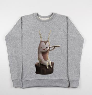 Дух, играющий на флейте - Купить детские свитшоты музыка в Москве, цена детских свитшотов музыкальных  с прикольными принтами - магазин дизайнерской одежды MaryJane