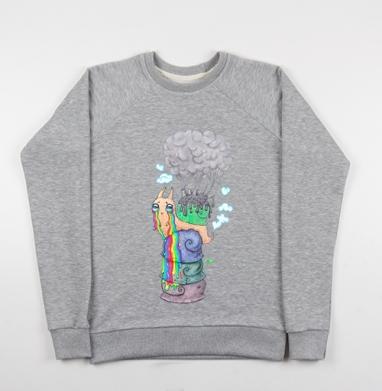 Эко-улитка - Купить детские свитшоты с насекомыми в Москве, цена детских свитшотов с насекомыми  с прикольными принтами - магазин дизайнерской одежды MaryJane