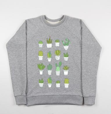 Кактусики - Купить детские свитшоты с природой в Москве, цена детских свитшотов с природой  с прикольными принтами - магазин дизайнерской одежды MaryJane