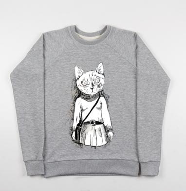 Киса-хипста - Купить детские свитшоты модные в Москве, цена детских свитшотов модных  с прикольными принтами - магазин дизайнерской одежды MaryJane