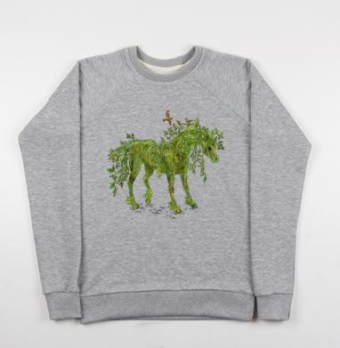 Konik - Купить детские свитшоты с деревьями в Москве, цена детских свитшотов с деревьями  с прикольными принтами - магазин дизайнерской одежды MaryJane