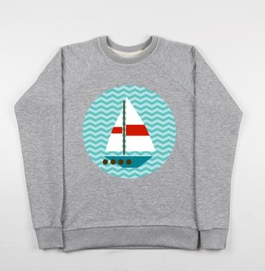 Кораблики - Купить детские свитшоты морские  в Москве, цена детских свитшотов морских   с прикольными принтами - магазин дизайнерской одежды MaryJane