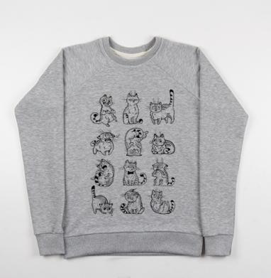 Кот Макс - Купить детские свитшоты с кошками в Москве, цена детских свитшотов с кошками  с прикольными принтами - магазин дизайнерской одежды MaryJane