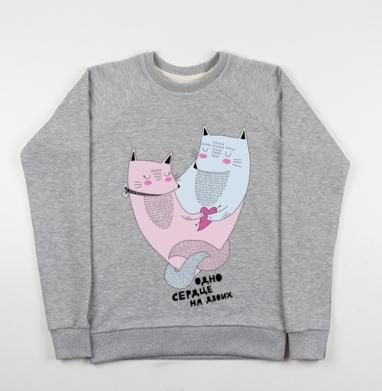 Котолюбовь - Купить детские свитшоты с кошками в Москве, цена детских свитшотов с кошками  с прикольными принтами - магазин дизайнерской одежды MaryJane