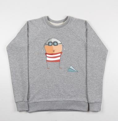 Летчик - Купить детские свитшоты с людьми в Москве, цена детских свитшотов с людьми  с прикольными принтами - магазин дизайнерской одежды MaryJane
