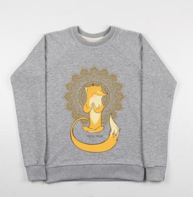 Лисья йога  - Купить детские свитшоты с животными в Москве, цена детских свитшотов с животными  с прикольными принтами - магазин дизайнерской одежды MaryJane