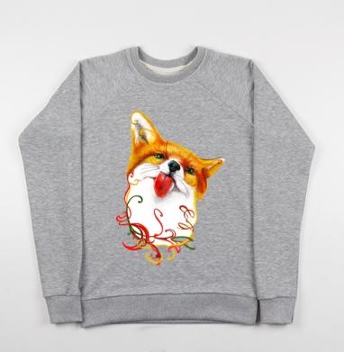 Лисёнок  АКВАРЕЛЬКА - Купить детские свитшоты с животными в Москве, цена детских свитшотов с животными  с прикольными принтами - магазин дизайнерской одежды MaryJane