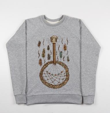 Ловец музыки - Купить детские свитшоты музыка в Москве, цена детских свитшотов музыкальных  с прикольными принтами - магазин дизайнерской одежды MaryJane