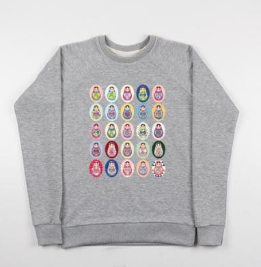 Матрешки - Купить детские свитшоты Россия в Москве, цена детских свитшотов Россия  с прикольными принтами - магазин дизайнерской одежды MaryJane