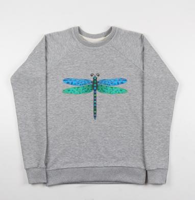 Мозаичная стрекоза - Купить детские свитшоты с насекомыми в Москве, цена детских свитшотов с насекомыми  с прикольными принтами - магазин дизайнерской одежды MaryJane