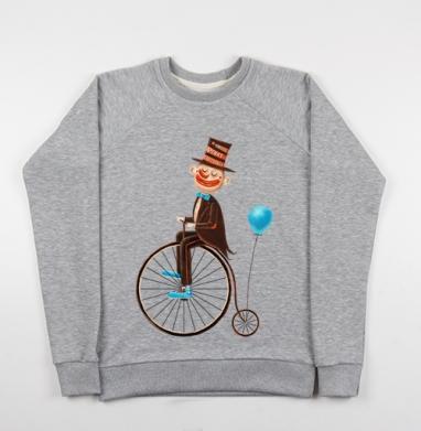 Пенни-фартинг цирк - Купить детские свитшоты с велосипедом в Москве, цена детских свитшотов с велосипедом с прикольными принтами - магазин дизайнерской одежды MaryJane