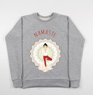Поза дерева - Купить детские свитшоты красивые в Москве, цена детских свитшотов красивых  с прикольными принтами - магазин дизайнерской одежды MaryJane