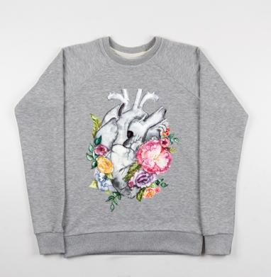 Расцветает любовь - Купить детские свитшоты серые в Москве, цена детских свитшотов серых с прикольными принтами - магазин дизайнерской одежды MaryJane