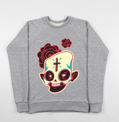 Сахарный череп - Купить детские свитшоты с роами в Москве, цена детских свитшотов с розой с прикольными принтами - магазин дизайнерской одежды MaryJane
