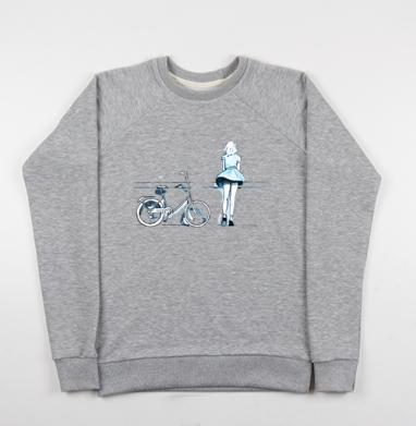 Счастье - Купить детские свитшоты с велосипедом в Москве, цена детских свитшотов с велосипедом с прикольными принтами - магазин дизайнерской одежды MaryJane