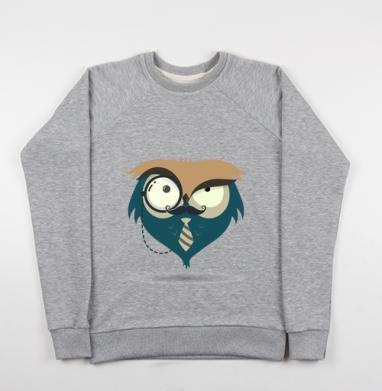 Сова-Хипстер - Купить детские свитшоты с илюстрациями в Москве, цена детских свитшотов с илюстрациями  с прикольными принтами - магазин дизайнерской одежды MaryJane