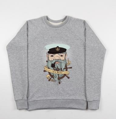 Старый капитан - Купить детские свитшоты морские  в Москве, цена детских свитшотов морских   с прикольными принтами - магазин дизайнерской одежды MaryJane