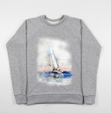 Свежий ветер - Купить детские свитшоты Пейзаж в Москве, цена детских свитшотов с пейзажем с прикольными принтами - магазин дизайнерской одежды MaryJane