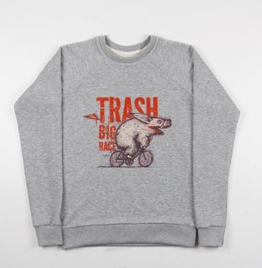 Trash BIG RACE - Купить детские свитшоты с велосипедом в Москве, цена детских свитшотов с велосипедом с прикольными принтами - магазин дизайнерской одежды MaryJane